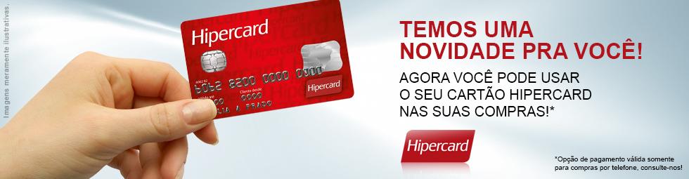 Novidade! Aceitamos Hipercard